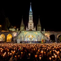 Image result for torchlight procession Lourdes
